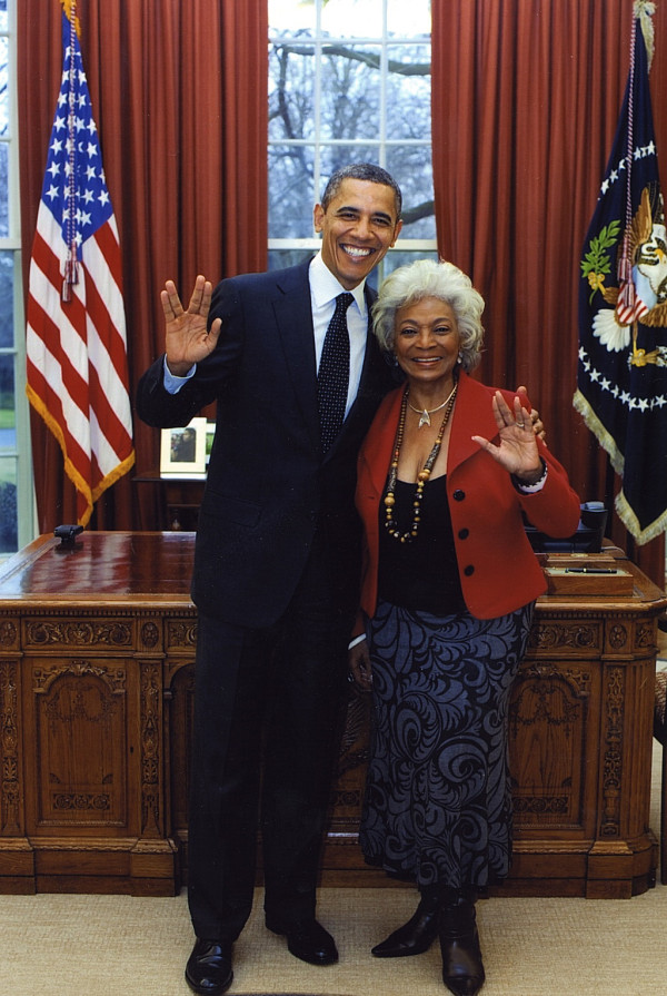 President Obama and Nichelle Nichols